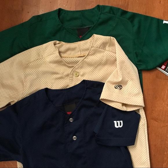 size 40 56867 d3284 3 Wilson & Rawlings Youth Baseball Jerseys, Small